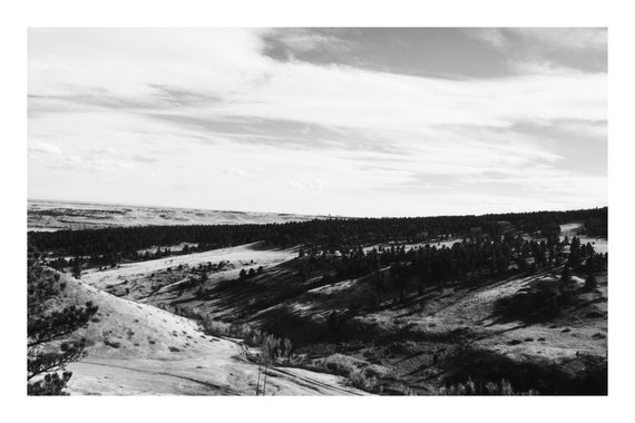 Valley View,  Black and White Fine Art Photography Print   (Hi-Res Digital Download)