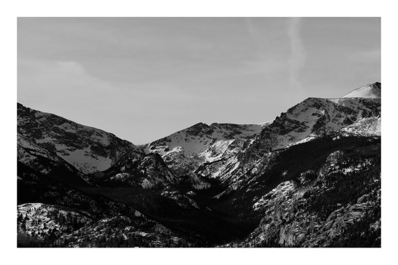 Mountains in Contrast,  Black and White Fine Art Photography Print   (Hi-Res Digital Download)