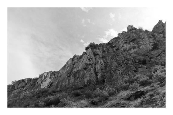 Canyon Walls,  Black and White Fine Art Photography Print   (Hi-Res Digital Download)