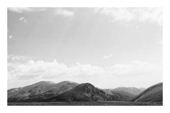 Mountains in the Distance,  Black and White Fine Art Photography Print   (Hi-Res Digital Download)