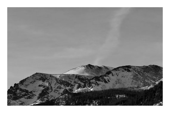 Quiet Mountains,  Black and White Fine Art Photography Print   (Hi-Res Digital Download)