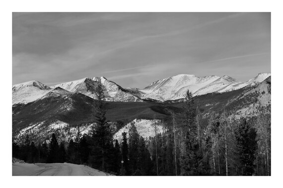 Mountainside Overlook,  Black and White Fine Art Photography Print   (Hi-Res Digital Download)