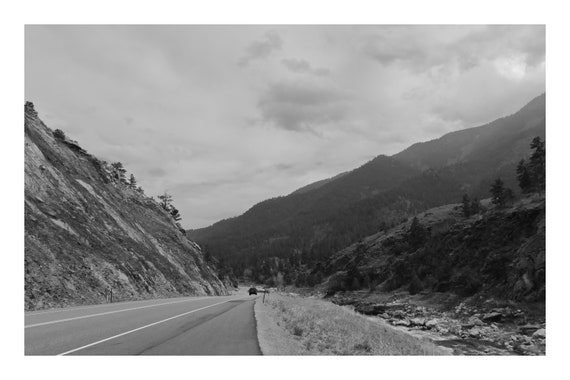 Canyon Road,  Black and White Fine Art Photography Print   (Hi-Res Digital Download)