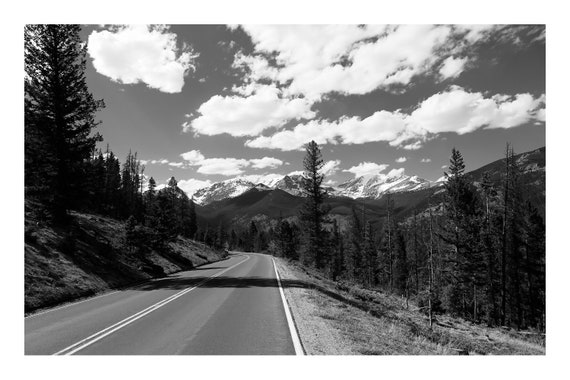 Wilderness Drive,  Black and White Fine Art Photography Print   (Hi-Res Digital Download)