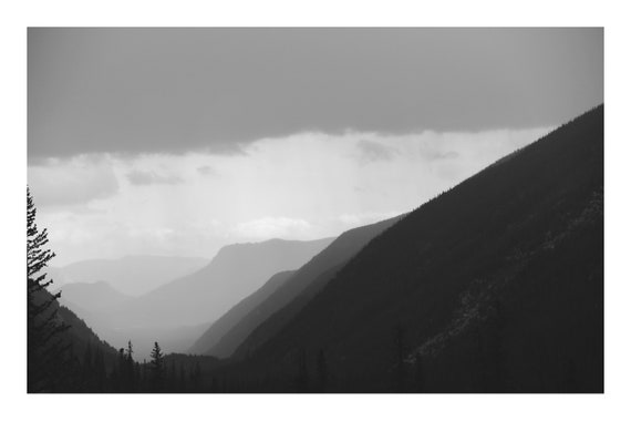 Hazy Mountains,  Black and White Fine Art Photography Print   (Hi-Res Digital Download)