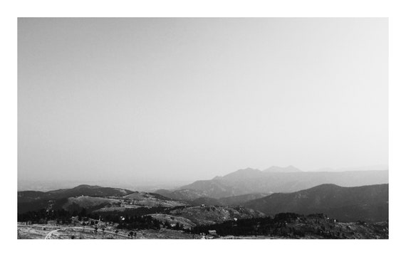 Rolling Mountains,  Black and White Fine Art Photography Print   (Hi-Res Digital Download)