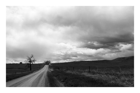 Farmland Road,  Black and White Fine Art Photography Print   (Hi-Res Digital Download)