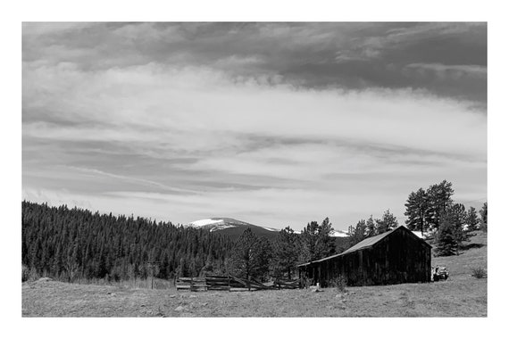 Mountain Farm,  Black and White Fine Art Photography Print   (Hi-Res Digital Download)
