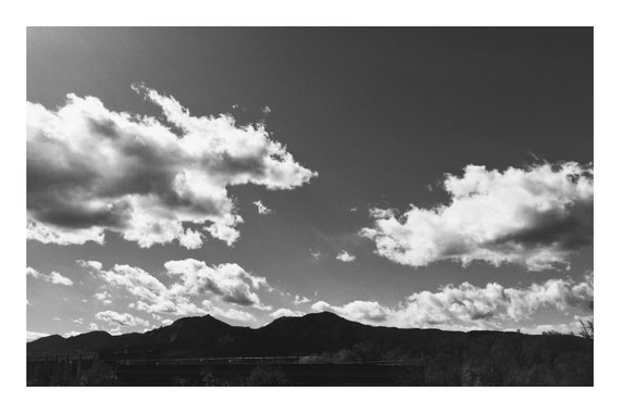 Afternoon Skies in the Mountains,  Black and White Fine Art Photography Print   (Hi-Res Digital Download)