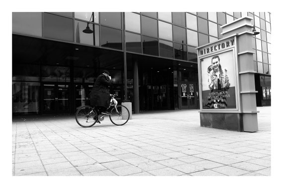 Bicycle Man,  Black and White Fine Art Photography Print   (Hi-Res Digital Download)