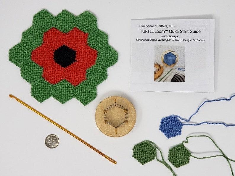 PennyTURTLE™  1 Fine-Sett Hexagon Pin Loom Kit image 0