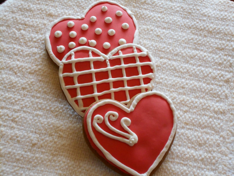 Large Gingerbread Heart Cookies