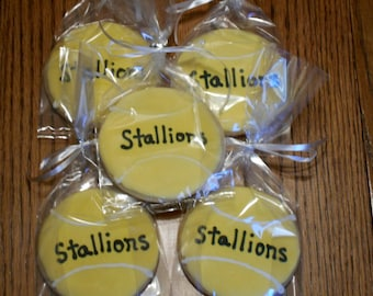 Tennis Ball Sugar Cookie Party Favors