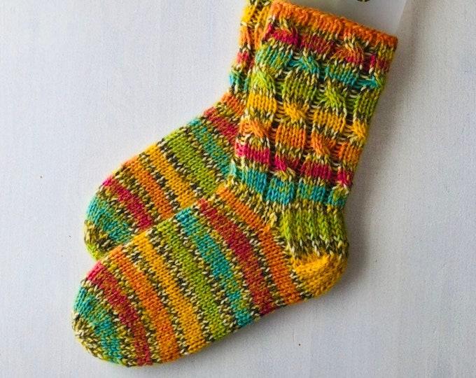 36/37 size Rainbow color winter socks Warm slipper socks for Woollen warm socks