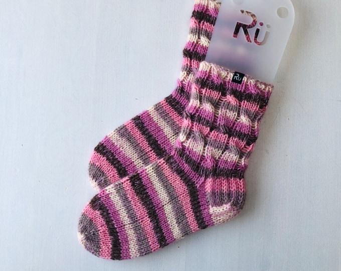 36/37 size Pink Winter slipper socks Mohair wool boot socks