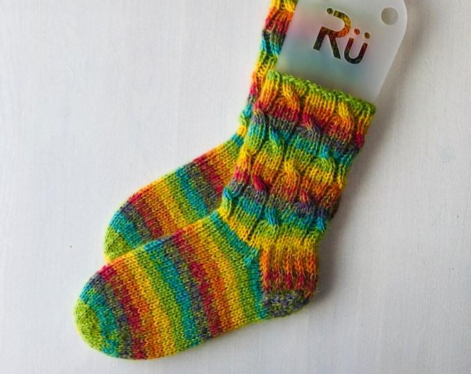 36/37 size Winter rainbow woollen slipper socks Warm boots socks