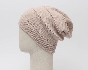Slouchy beanie / handmade slouchy hat / merino slouch hat / baggy beanie / unisex slouchy beanie / all season hat