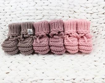 0-6 mēneši - Merīnvilnas zābaciņi mazulim - Gatavi sūtīšanai