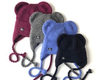 Lāčuka ziemas cepure no siltās un mīkstās merino / alpakas superīgās dzijas.