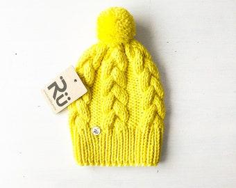 2-4 gadi (50-52cm) - Koša merīnvilnas pīņu cepure - Gatava sūtīšanai
