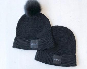 L (58-60cm) - Melna Latvietis & Latviete cepure - Gatava sūtīšanai