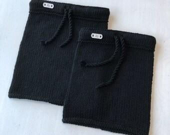 Melna merīnvilnas apkakle - Divi izmēri