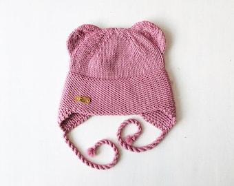 2-5 gadi (50-52cm) - Vecrozā merīnvilnas  lāčuka cepure - Gatava sūtīšanai