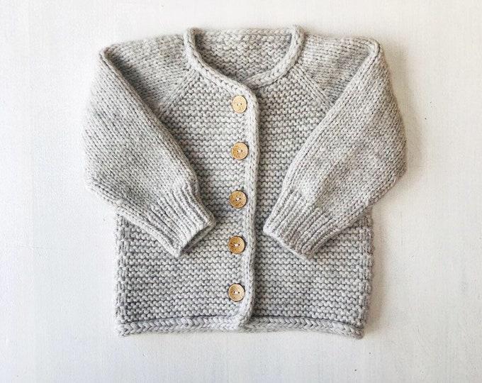 98/104 (2-4 gadi) - Pelēka jaka - Gatava sūtīšanai