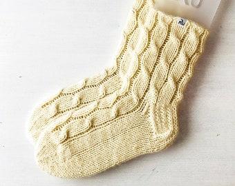 40/41 size Off white Winter slipper socks Woollen winter boot socks