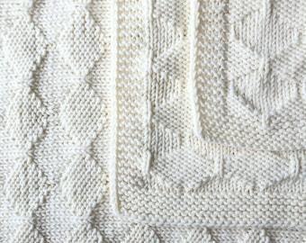 120x95 cm - Mīksta un silta, piena balta merīnvilnas sega mazulim - Gatava sūtīšanai