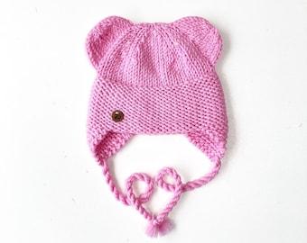 Rozā Lāčuka ziemas cepure bērniem