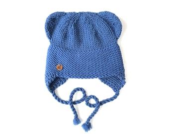 Zila Lāčuka ziemas cepure bērniem