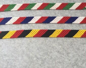 National flag bracelet / Flag of Italy friendship bracelet /  Handmade Friendship Bracelet / braided friend bracelet / Friendship band