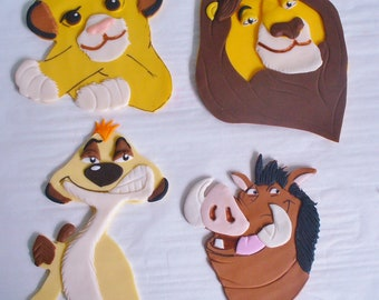 LION KING Simba Mufasa Timon Pumbaa Edible Fondant Cake Topper Decorations 6f9208549