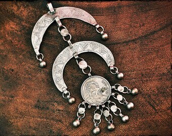 Antique Nubian Bedouin Pendant from Egypt - Bedouin Silver Pendant - Bedouin Silver Jewelry - Egypt Jewelry - Nubian Jewelry