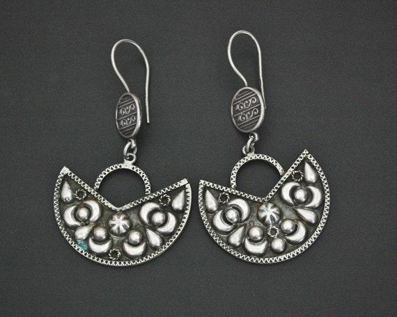 Egyptian Silver Dangle Earrings - Ethnic Earrings