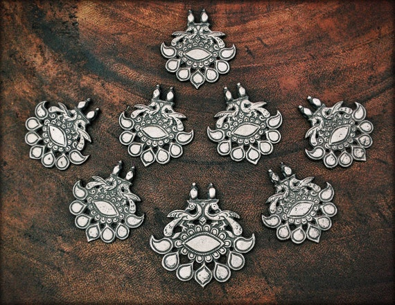 Antique Rajasthan Tribal Silver Pendant - Indian T