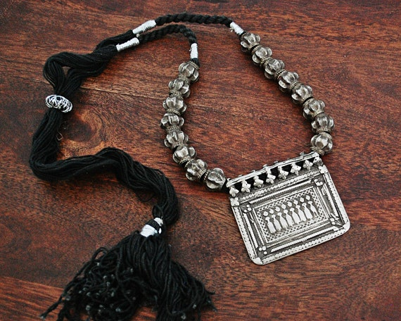 925 Sterling Silver NecklaceEthnic Tribal NecklacePendant Charm NecklaceHandmade Bohemian NecklaceRajasthan Necklace Jewelry Women Gift