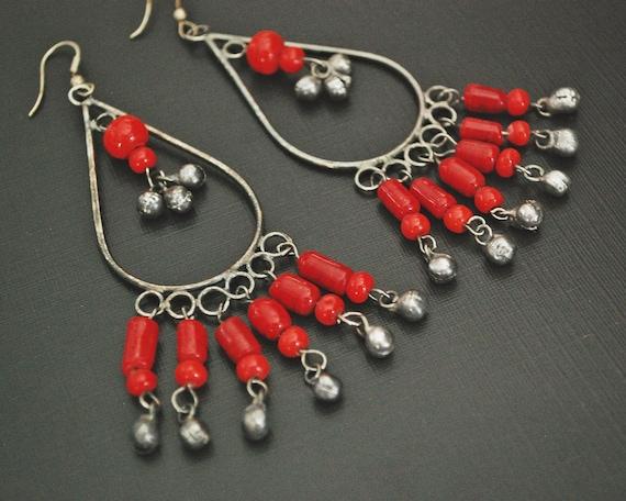 Ethnic Dangle Earrings with Bells - Ethnic Earring