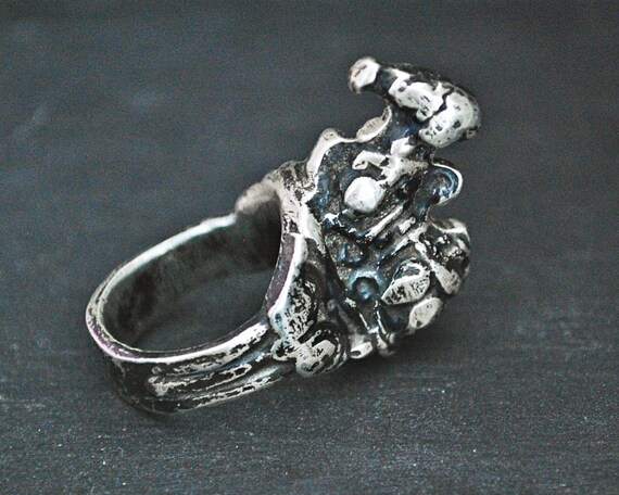 Old Nandi Bull Ring - Size 6.25 - Indian Nandi Rin