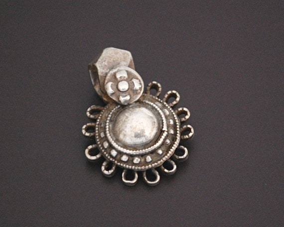 Indian Tribal Silver Pendant - Rajasthani Silver A