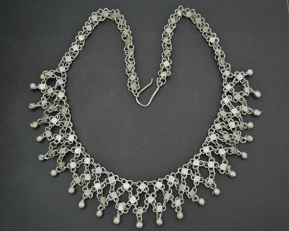 Egyptian Silver Kirdan Necklace - Middle Eastern N