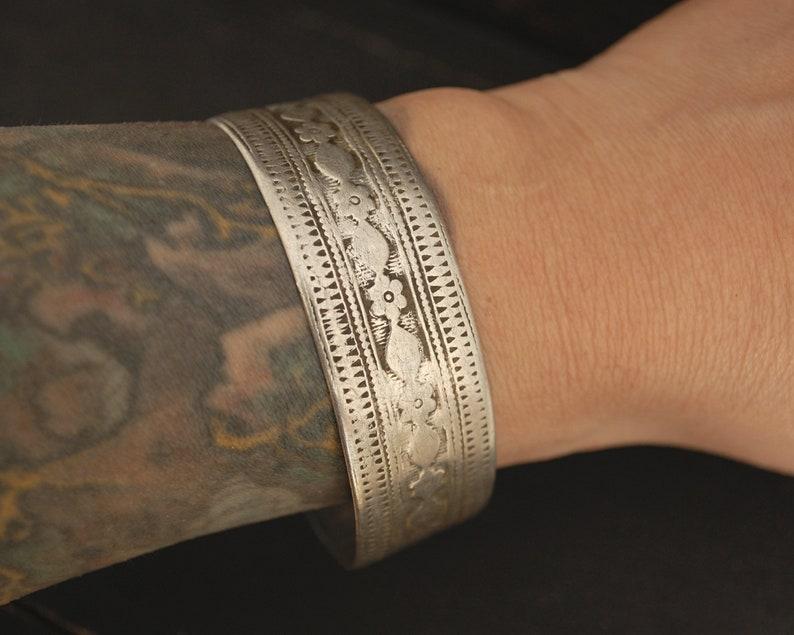 Afghani Jewelry Vintage Afghani Silver Cuff Bracelet Ethnic Jewelry Ethnic Silver Cuff Bracelet Tribal Bracelet Pair