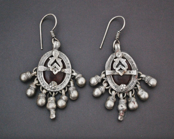 Rajasthani Earrings with Glass - Indian Tribal Ear