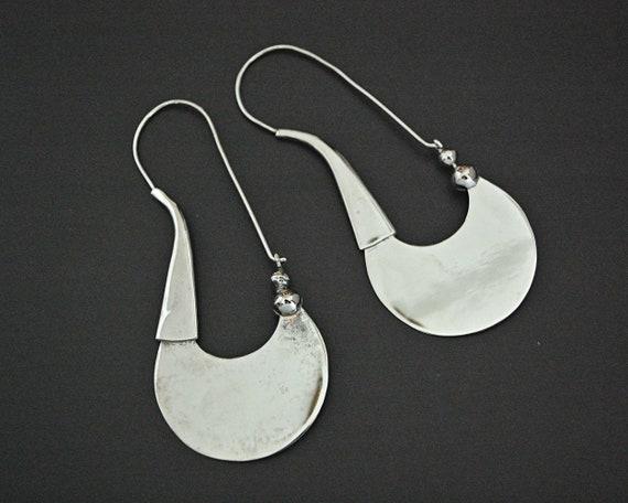 Ethnic Long Hoop Earrings - LARGE
