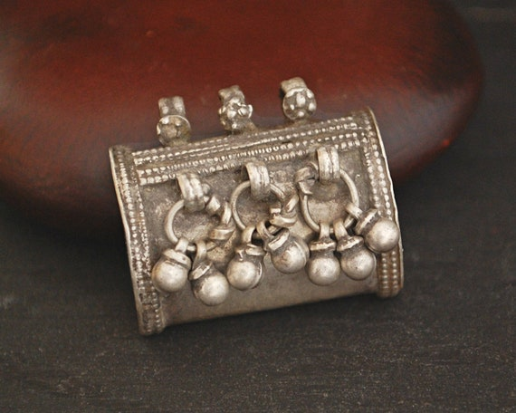 Rajasthani Tribal Silver Pendant - Indian Tribal P