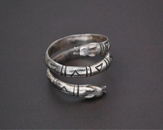 Snake Coil Ring - Size 7 - Ethnic Tribal Coil Snak