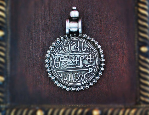 Rajasthani Silver Pendant - Indian Tribal Amulet -