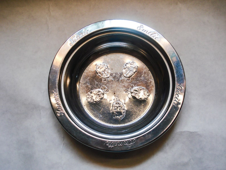 Baby Dish Dionne Quintuplets 1934 Vintage FREE SHIPPING
