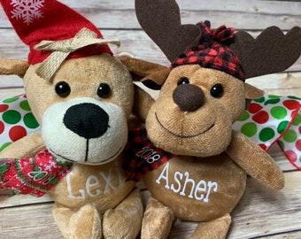 Personalized Stuffed Animal Stocking Stufffer Classmate Gift Classroom 2018 Stuffer